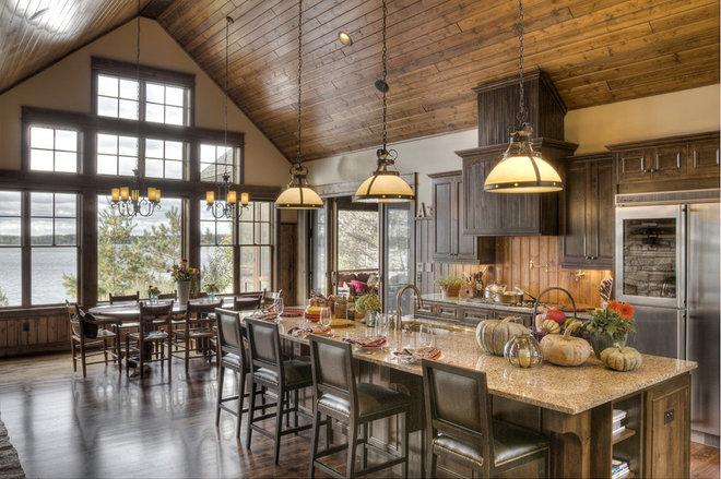 Rustic Kitchen by Lands End Development - Designers & Builders