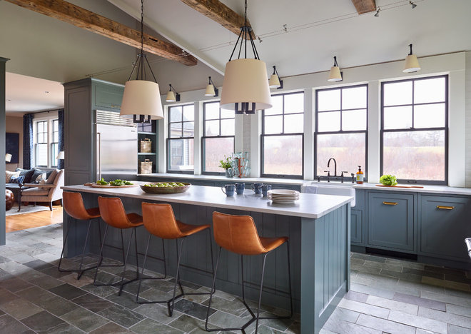 Transitional Kitchen by Kristina Crestin Design
