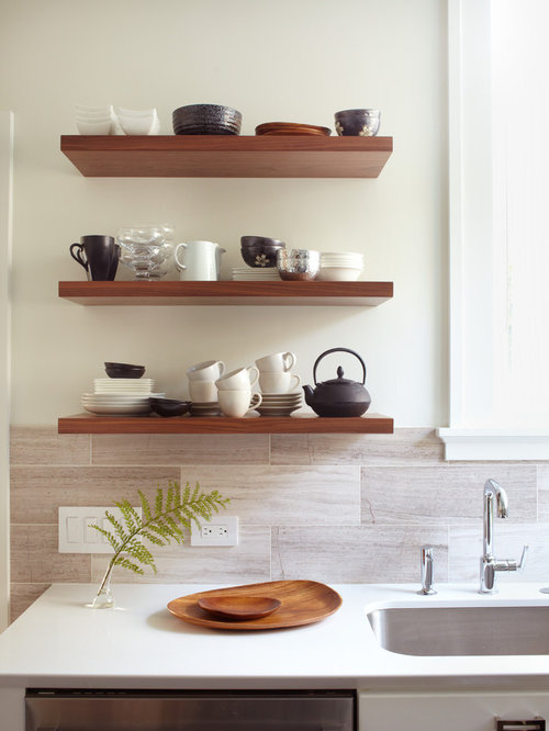 Best Kitchen Floating Shelf Design Ideas & Remodel Pictures | Houzz