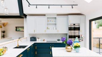 Lucy's Open Plan Blue Kitchen