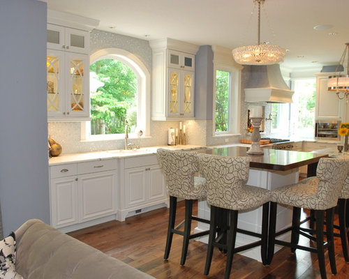 Inspiration For A Contemporary Open Concept Kitchen Remodel In Portland  With Raised Panel Cabinets And Part 72