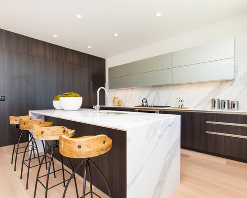 Mid Sized Contemporary Kitchen Design Ideas Remodel