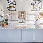 White Quartzite Kitchen Counter Tops Contemporary