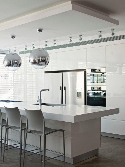 luxury k chen mit quarzit arbeitsplatte ideen bilder houzz. Black Bedroom Furniture Sets. Home Design Ideas
