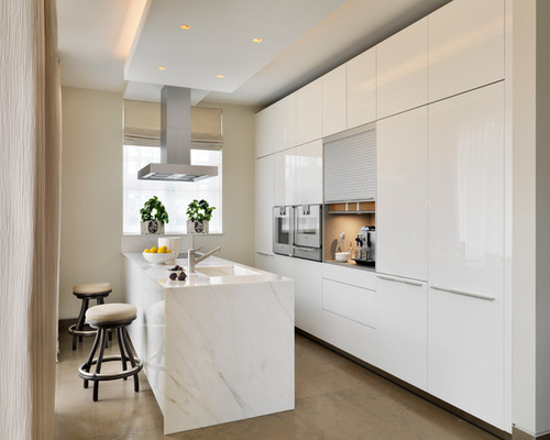 saveemail - White Gloss Kitchen Cabinets