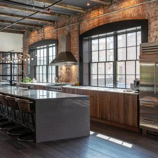 Industrial kitchen photos - Urban kitchen photo in Indianapolis