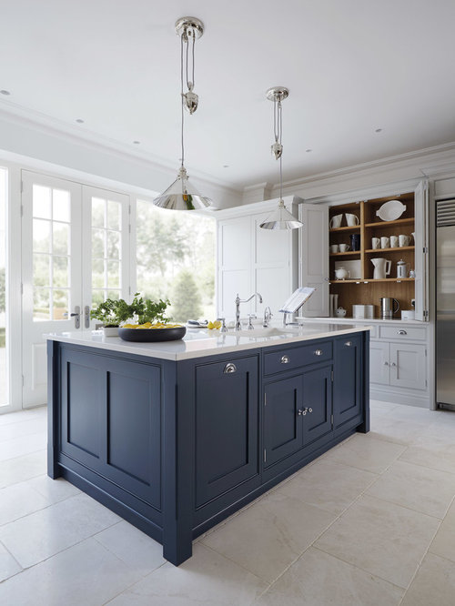 Charmant Large Traditional Enclosed Kitchen Designs   Inspiration For A Large  Timeless Marble Floor Enclosed Kitchen Remodel