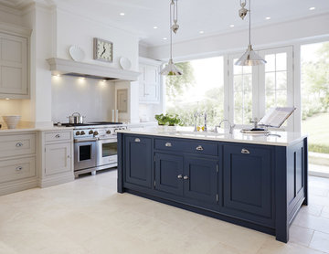 Luxury Blue Painted Kitchen