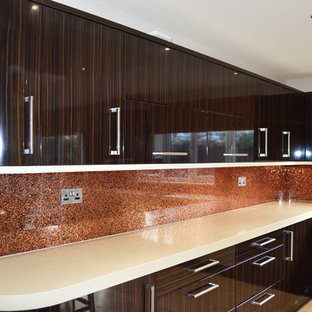 Luxury Copper From Our Luxury Collection Glass Splashback