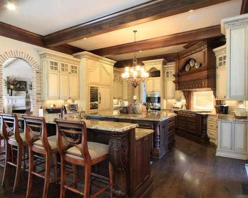 luxury custom kitchen design ideas, pictures, remodel and decor,