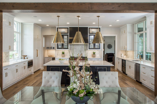 Awesome Transitional Kitchen by Kelle Contine Interior Design LLC