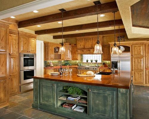 Idee Per Una Cucina Rustica : Rustic Kitchen Island Design Ideas ...