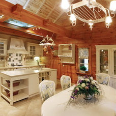Traditional Kitchen luxury log home in Ukraine