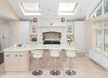 beautiful kitchen and stools