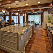 traditional kitchen by tdSwansburg design studio