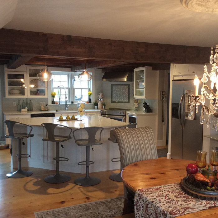 Eclectic Beamed Kitchen