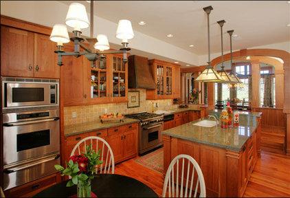 Craftsman Kitchen by Lynne Barton Bier - Home on the Range Interiors
