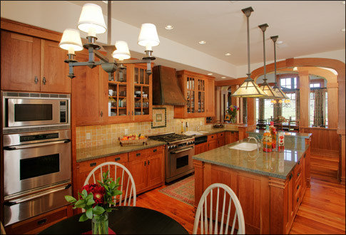 Arts and crafts kitchens home design ideas pictures for Arts and crafts kitchen design ideas