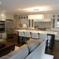 Transitional Kitchen by Ph.D. Design Inc.