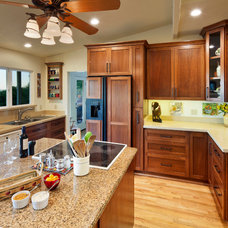 Traditional Kitchen by J & C Custom Cabinets Inc.