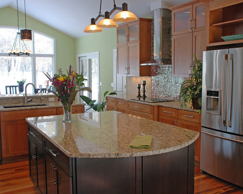 New venetian gold granite countertops houzz for Kitchen designs namibia