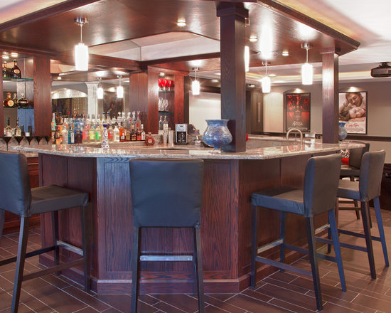 45 degree corner bar home design ideas, pictures, remodel and decor