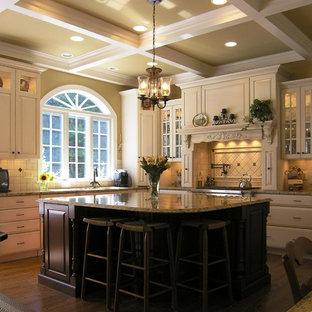 ワシントンD.C.のトラディショナルスタイルのおしゃれなキッチン (御影石カウンター) の写真