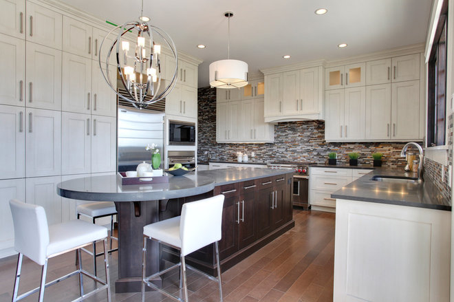 Contemporary Kitchen by New West Custom Homes and Renovations
