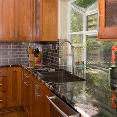 Transitional Kitchen by Macnsons Construction, Inc.