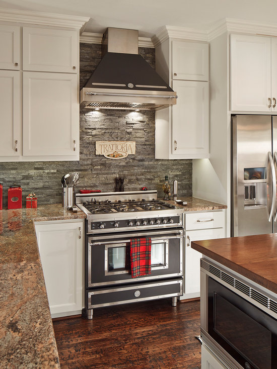 Stone Backsplash Kitchen stacked stone backsplash | houzz