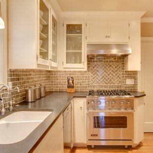 Kitchen Traditional Idea In Seattle With A Double Bowl Sink Gl