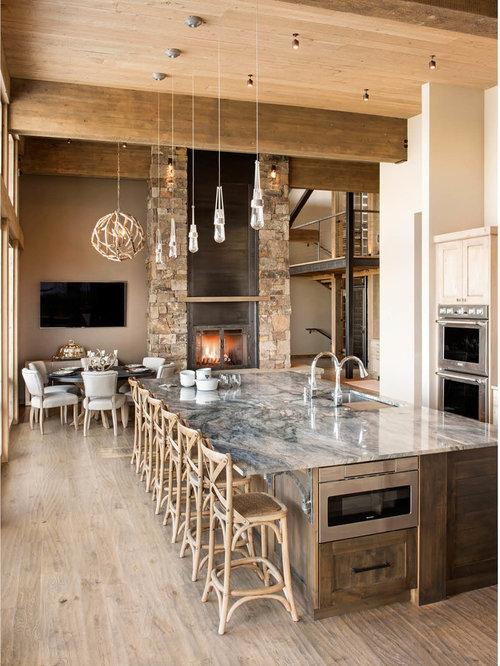 Cucina in montagna con top in quarzite - Foto e Idee per ...