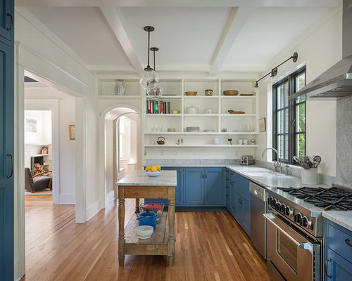 Affordable kitchen design ideas renovations amp photos with stone slab