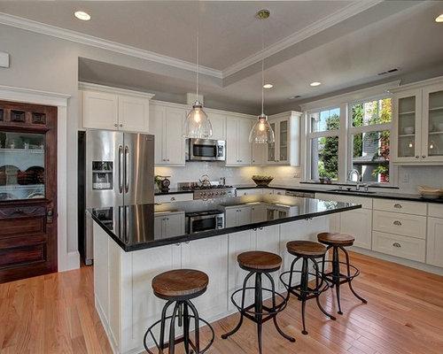 Victorian open plan kitchen design ideas renovations for Victorian kitchen floors