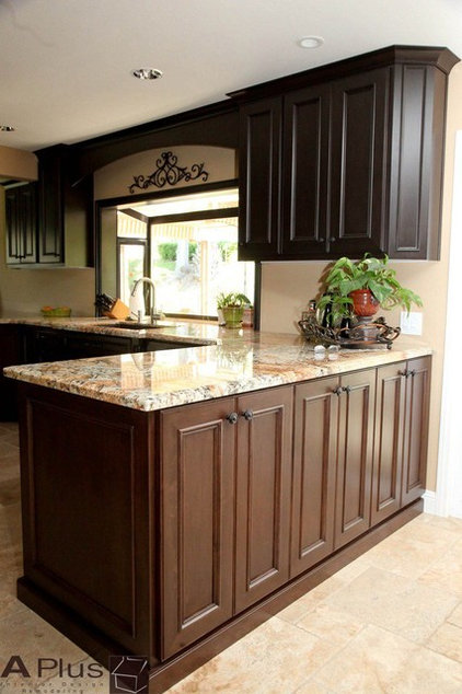 Traditional Kitchen by APlus Interior Design & Remodeling