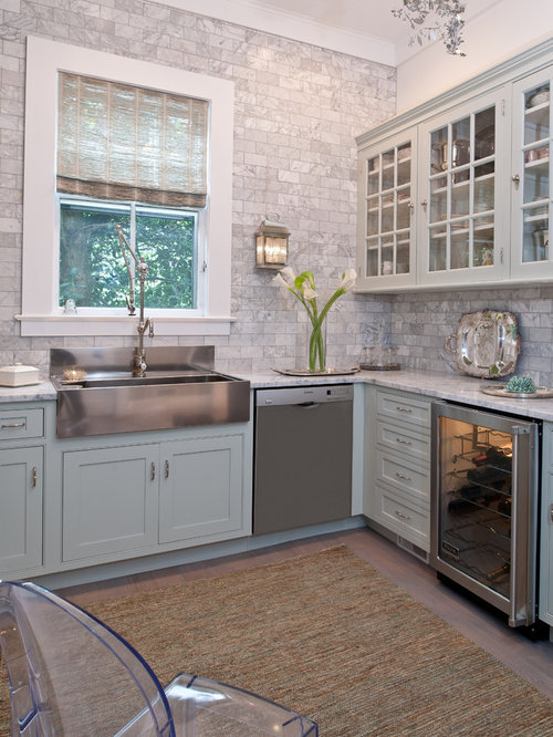 Enclosed Kitchen   Mid Sized Traditional L Shaped Light Wood Floor Enclosed  Kitchen Idea