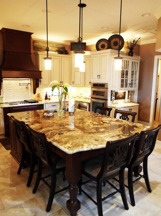 Granite Kitchen Island Table granite table island | houzz