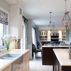 Transitional Kitchen by Rebecca Mitchell Interiors & Boutique