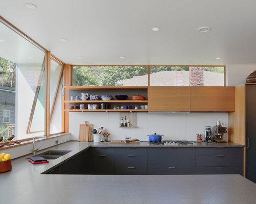 Kitchen Cabinets Above Windows above cabinet windows | houzz
