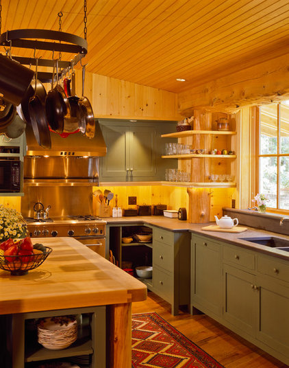Rustic Kitchen by Whitten Architects