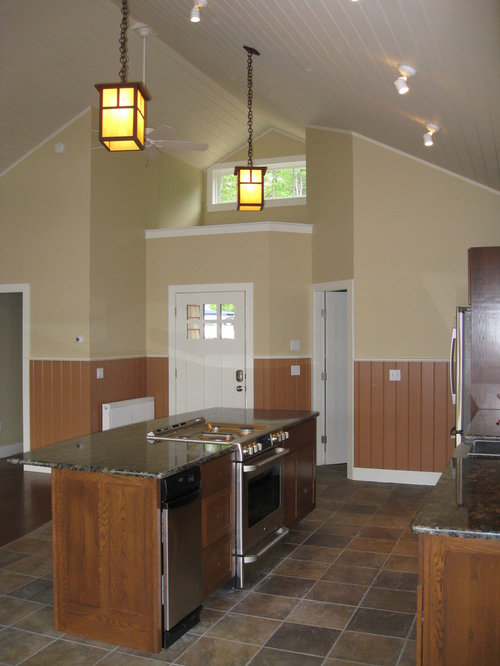craftsman cottage galley kitchen design ideas remodels photos