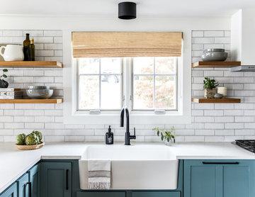 Maine Mainstays: White Brick Kitchen Backsplash