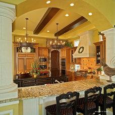 Mediterranean Kitchen by Charles Clayton Construction Inc