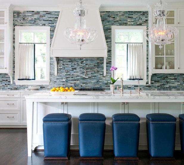 Kitchen Countertop And Backsplash Combinations: Battle Of The Backsplashes: Glass Mosaics Vs. Natural Stone