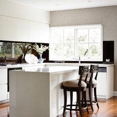 Transitional Kitchen by Alexander Pollock Interiors