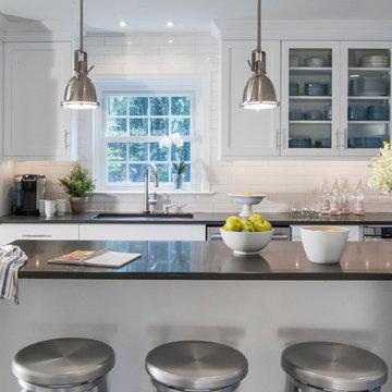 Malvern, PA - Crisp White Expanded Kitchen