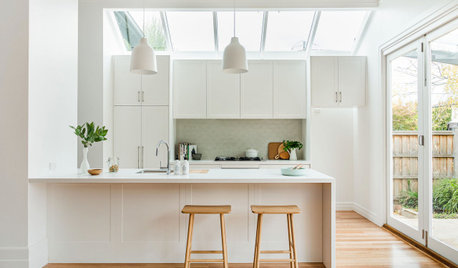 Room of the Week: A White, Light-Filled Kitchen With Pops of Sage