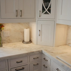 Traditional Kitchen by Rye Marble Inc
