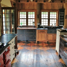 Traditional Kitchen by Green Mountain Timber Frames