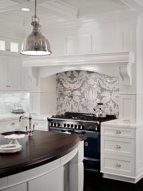 Gray And White Backsplash | Houzz